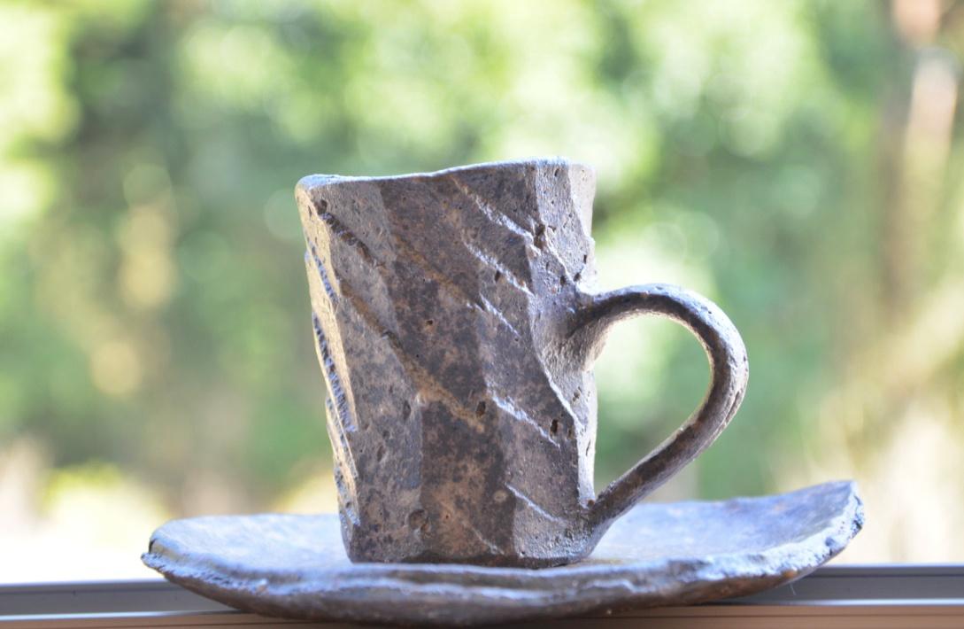 【益子焼】「薄田いと」さん作他。茶碗、皿、コーヒーカップ。