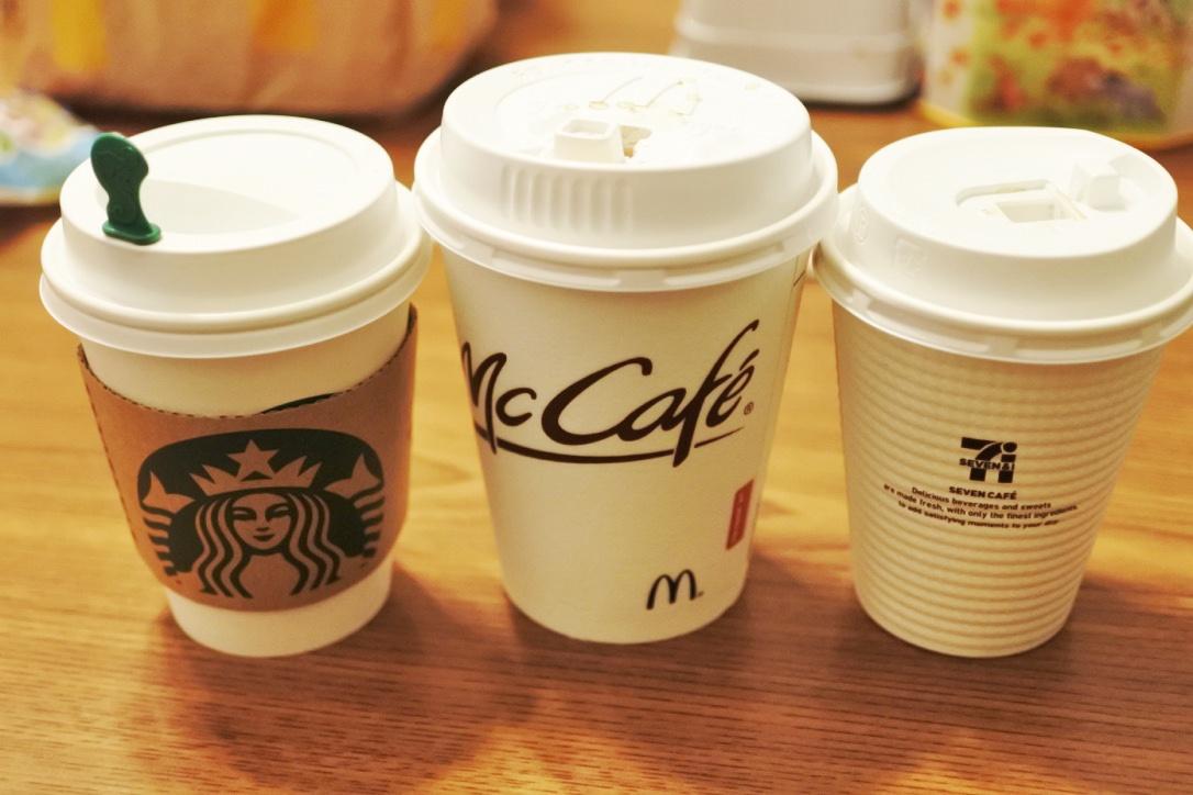 【飲み比べ】美味しいドリップコーヒーNo.1はどこだ!? マック vs セブン(コンビニ) vs スタバ。