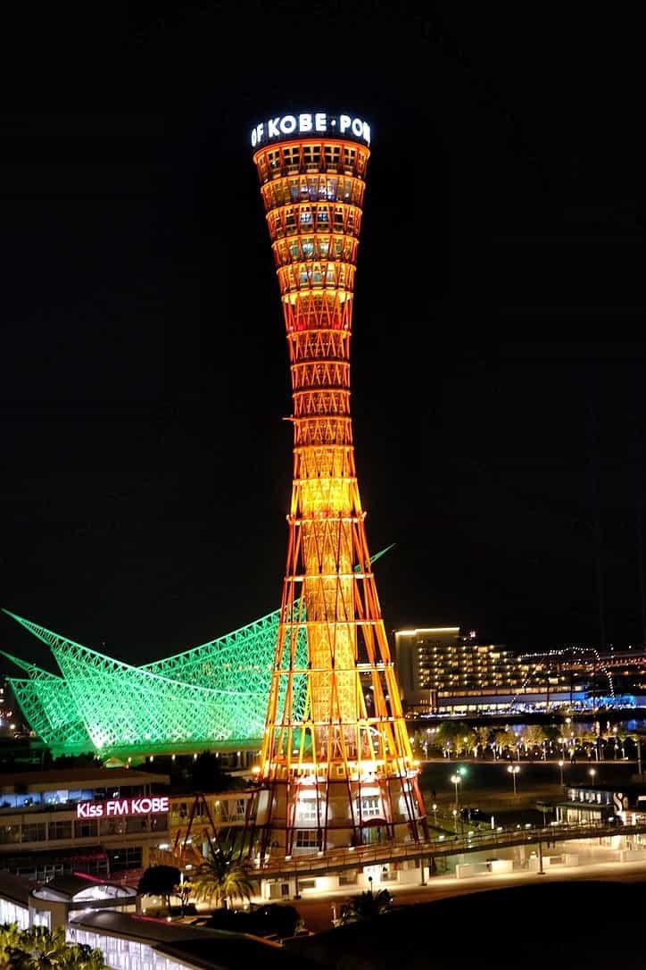 ラスイート神戸からの神戸ポートタワー夜景