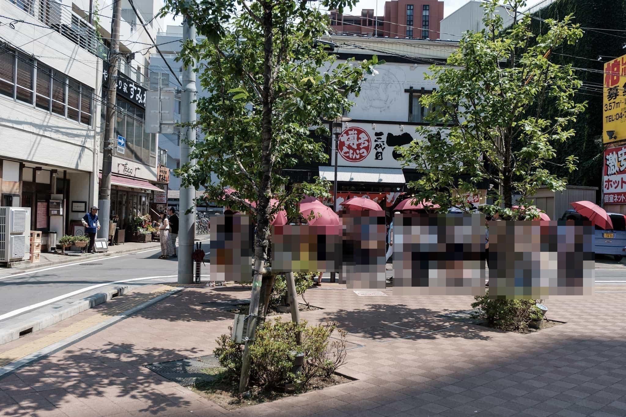 三日月氷菓店の行列