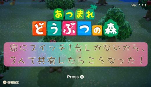 【あつまれ どうぶつの森】1台の本体・ソフトを家族3人で共有!メリット・デメリットあるよ【ニンテンドースイッチ】